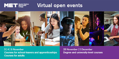 Virtual Open Event  - Courses & Apprenticeships For Adults