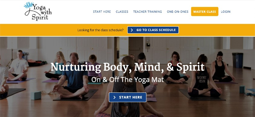 Yoga With Spirit New Website Package header image