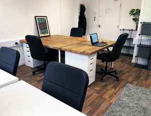 New creative co-working space within a 3D print office : Large desk space image1