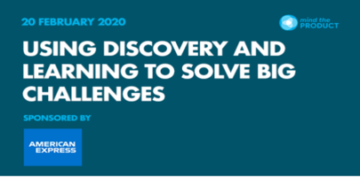 Using discovery & learning to solve big challenges