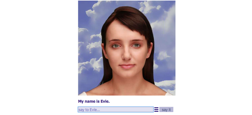 Cleverbot and Evie