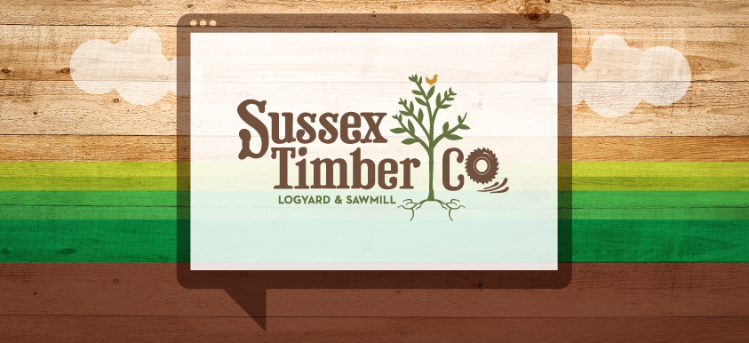 Sussex Timber Company Branding, Web Design header image