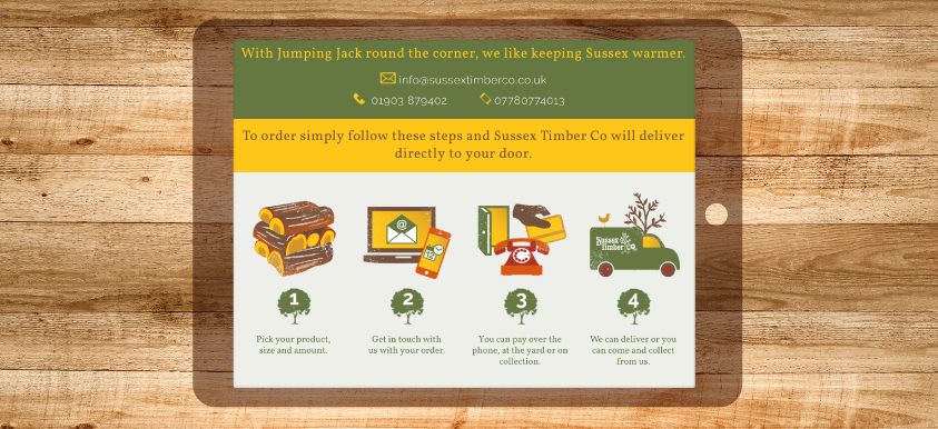 Sussex Timber Company Branding, Web Design footer image